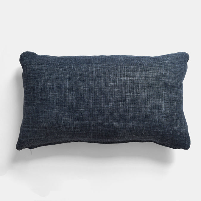 Midnight Blue Belgian Linen Pillow, lumbar