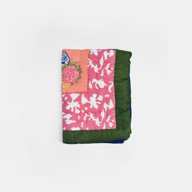 Lisa Corti Baby Quilt for colorful bedding in Matisse Pot Pink - Collyer's Mansion