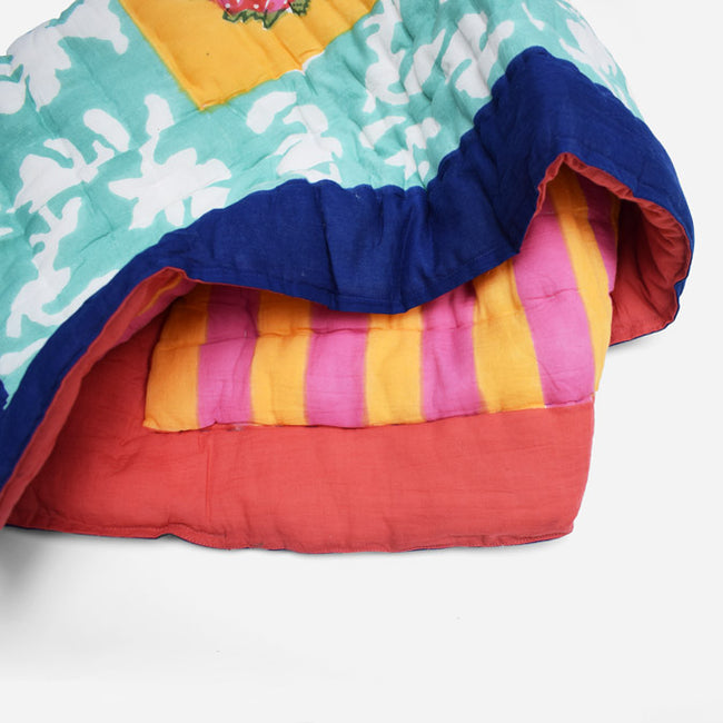 Lisa Corti Baby Quilt for colorful bedding in Matisse Pot Veronese - Collyer's Mansion