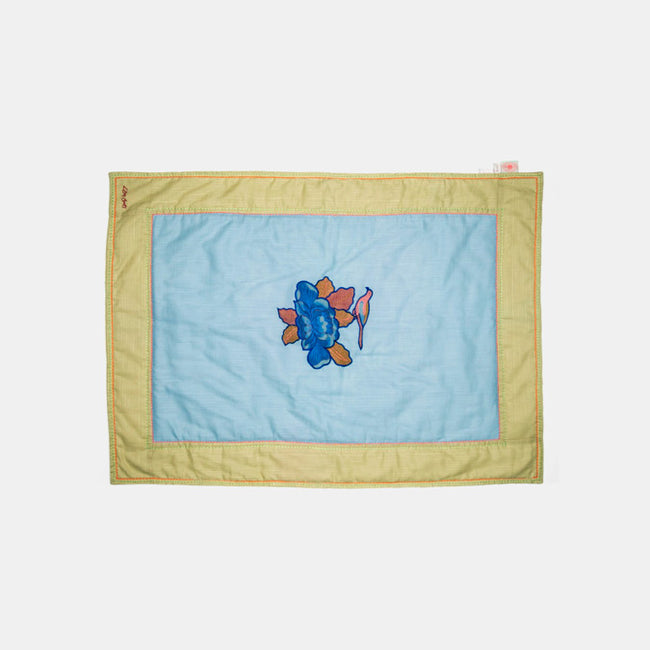 Lisa Corti Baby Quilt for colorful bedding in Royal Palace Blue - Collyer's Mansion
