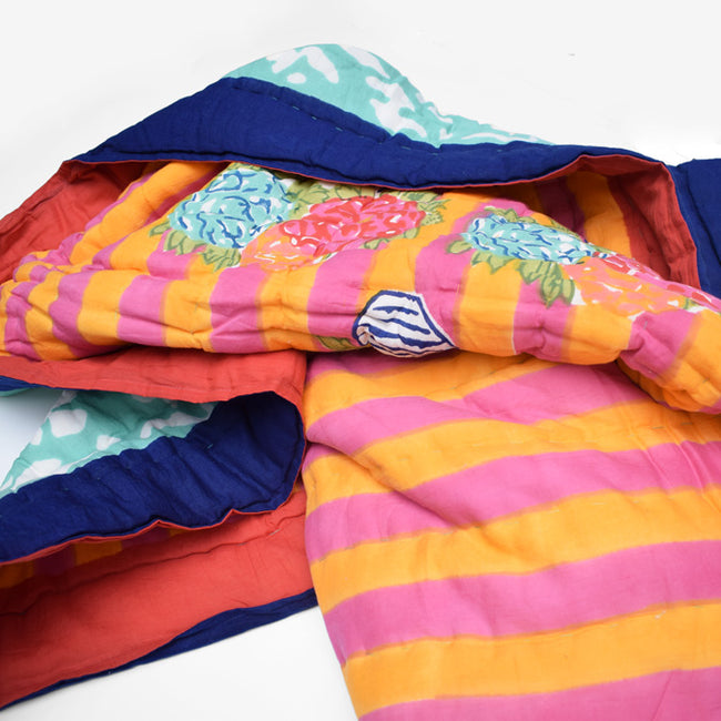 Lisa Corti Throw Quilt for colorful bedding in Matisse Pot Veronese - Collyer's Mansion