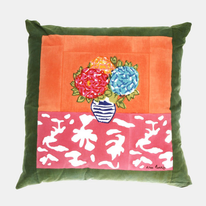 Lisa Corti Matisse Pot Pink Pillow for colorful home decor at Collyer's Mansion