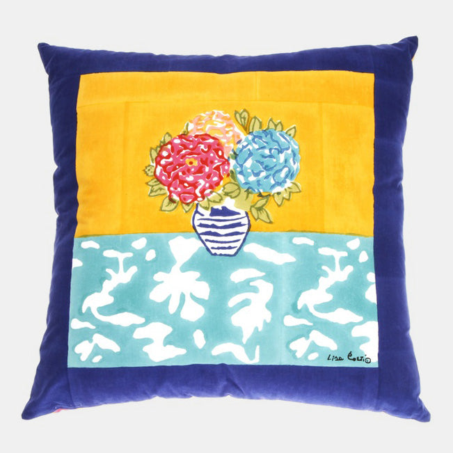 Lisa Corti Matisse Pot Veronese Pillow for colorful home decor at Collyer's Mansion