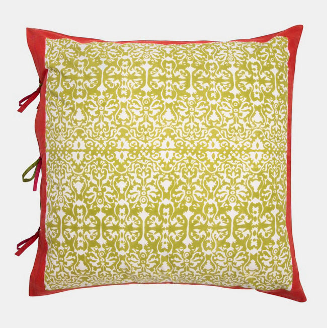 Lisa Corti Royal Palace White Pillow for colorful home decor at Collyer's Mansion