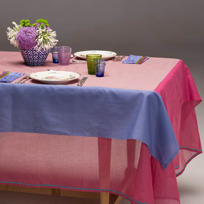 Old Pink Voile Tablecloth