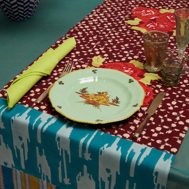 Paradise Garden Peacock Table Runner