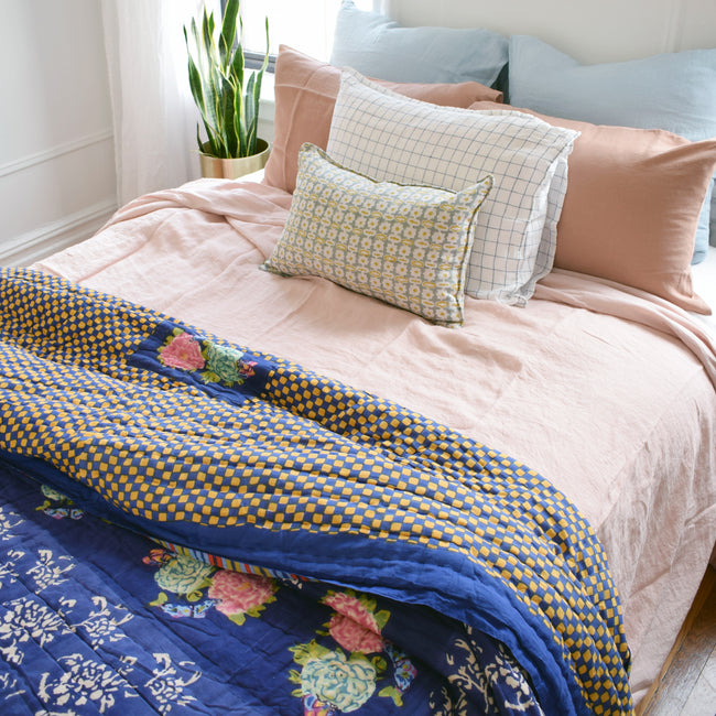 Kandem Blue Quilt, multiple sizes
