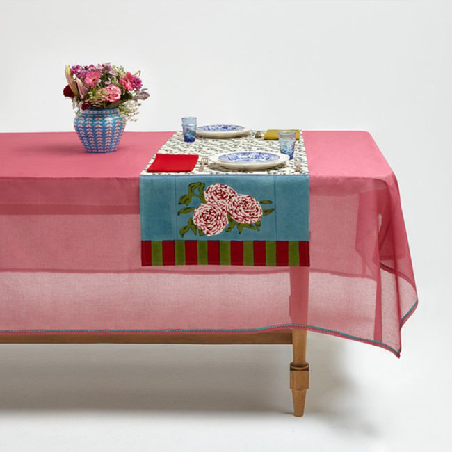 Leopard Stripes Sky Table Runner