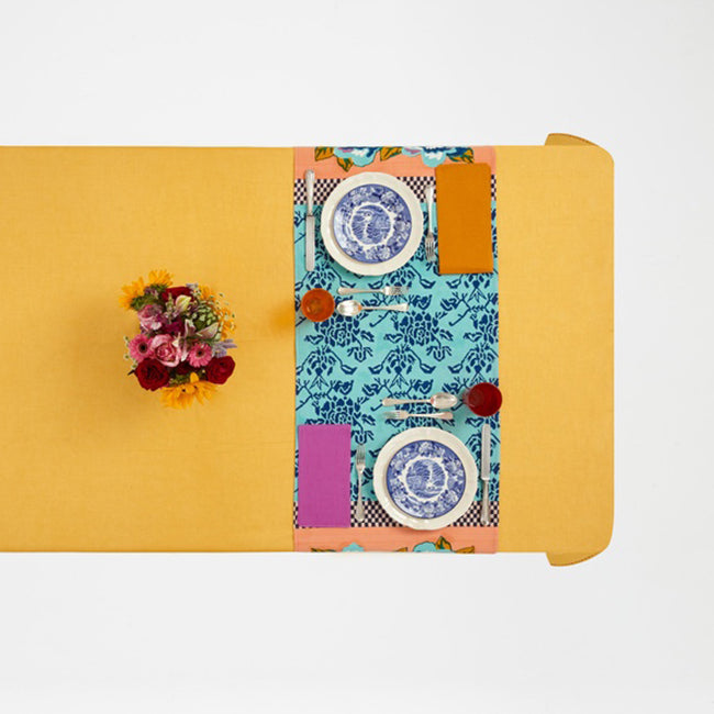 Double Peonia Peach Table Runner