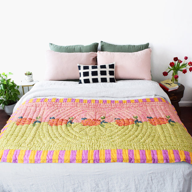 Maharani Acid Green Quilt, junior