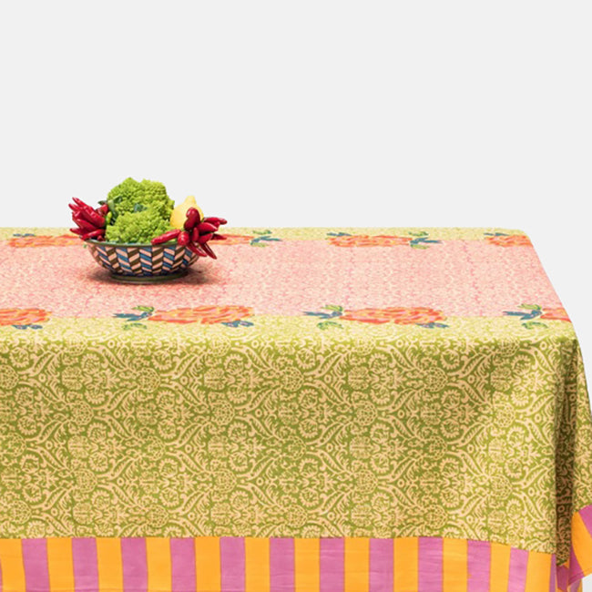 Maharani Acid Green Tablecloth, Tablecloth, Lisa Corti, Collyer's Mansion - Collyer's Mansion