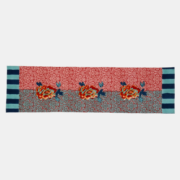 Maharani Coral Table Runner, Tablecloth, Lisa Corti, Collyer's Mansion - Collyer's Mansion