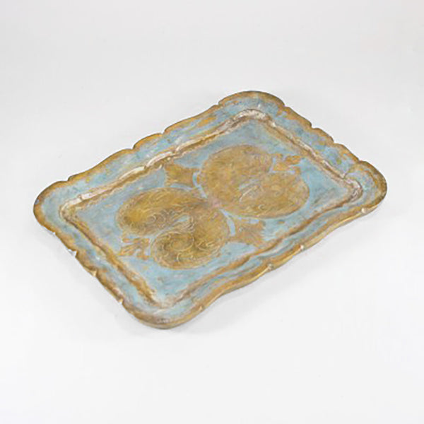Medium Florentine Tray, blue