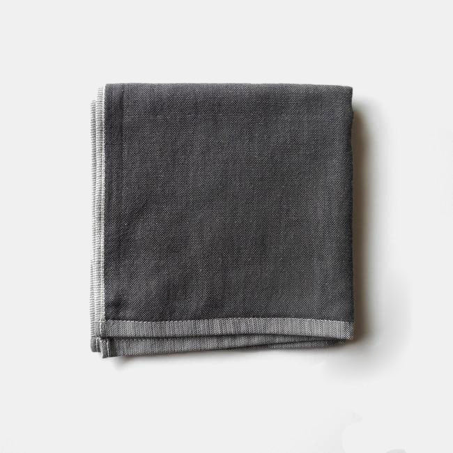 Yoshii Chambray Washcloth, charcoal