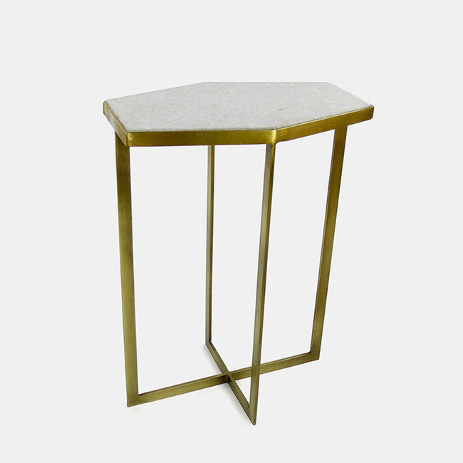 Marble Top Side Table, long