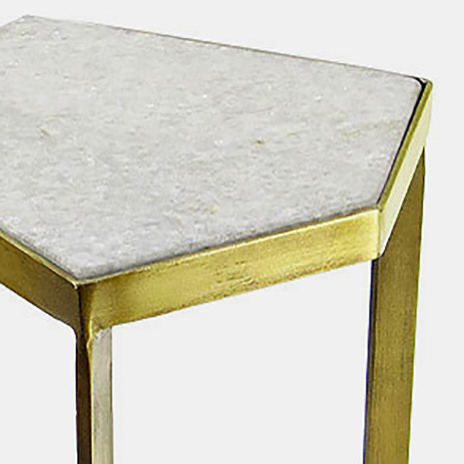 Marble Top Side Table, small, Table, Vagabond, Collyer's Mansion - Collyer's Mansion