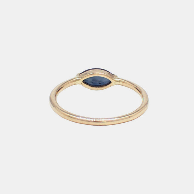 Margot Ring, blue sapphire, Ring, IGWT, Collyer's Mansion - Collyer's Mansion