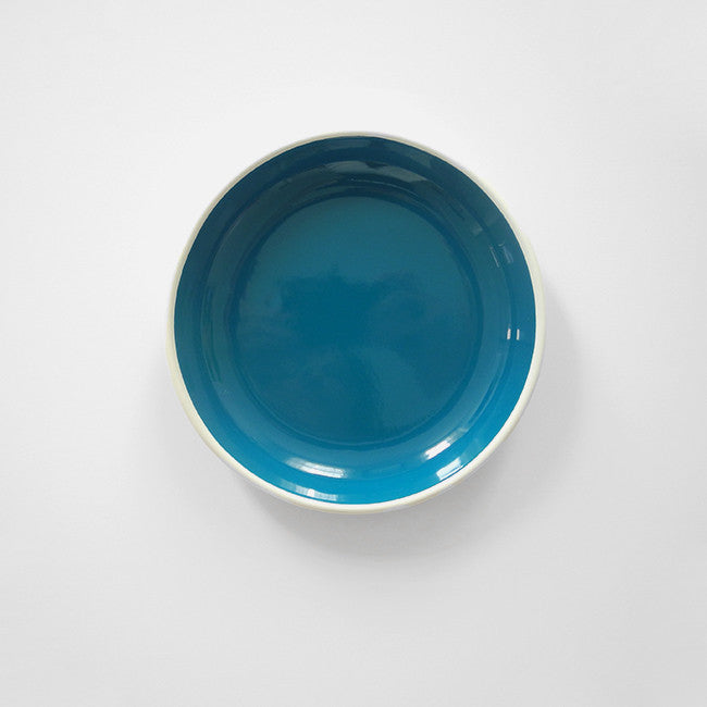 Ocean Blue Enamel Plate, medium