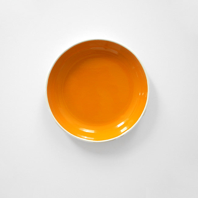 Yellow Enamel Plate, medium