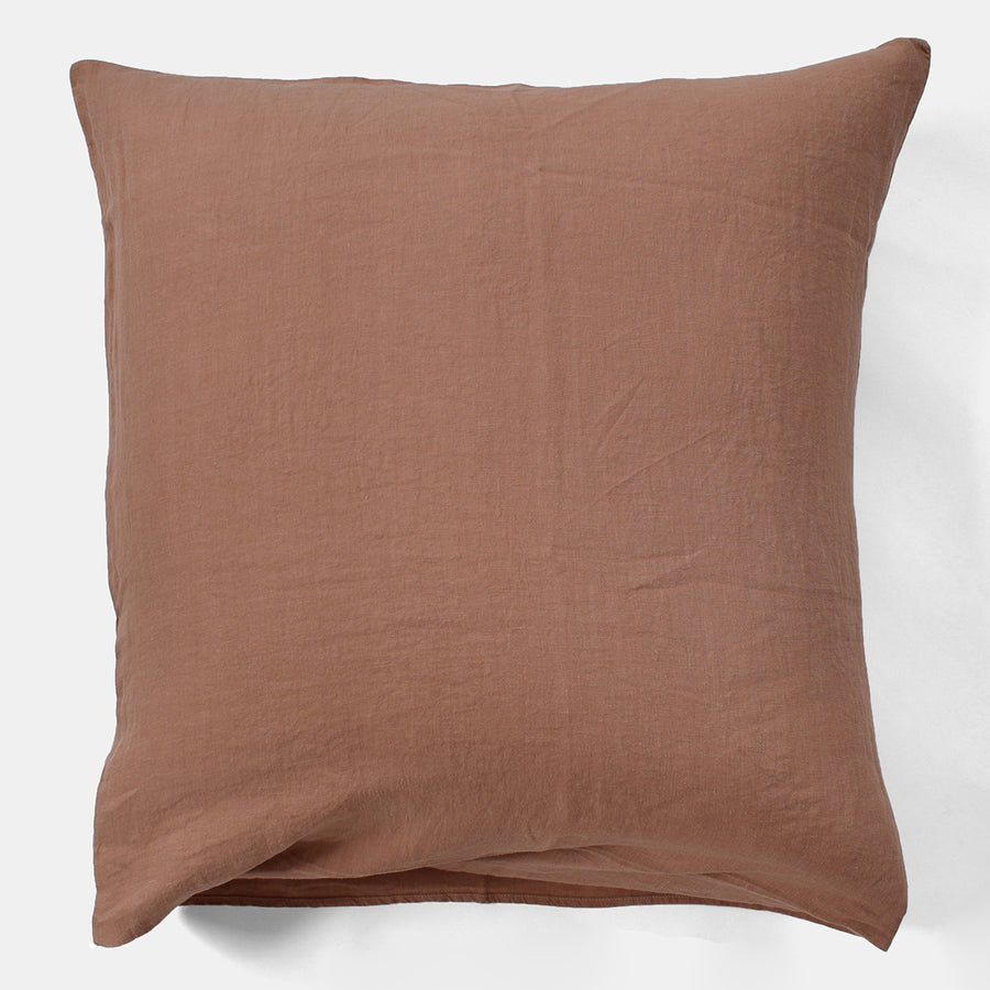 Linen Euro Pillowcase, moka