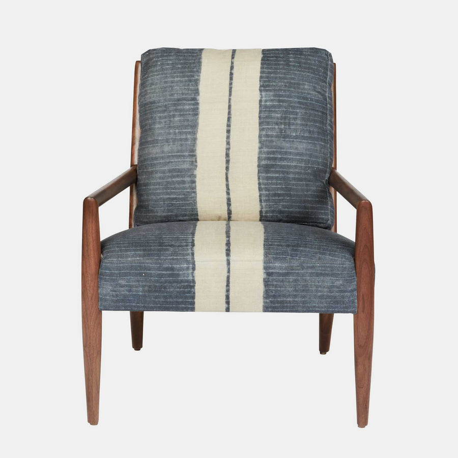 Montauk Chair in Nanda Stripe Midnight