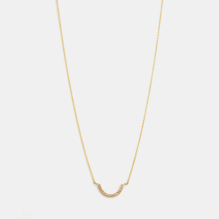 U-Shaped Diamond Necklace