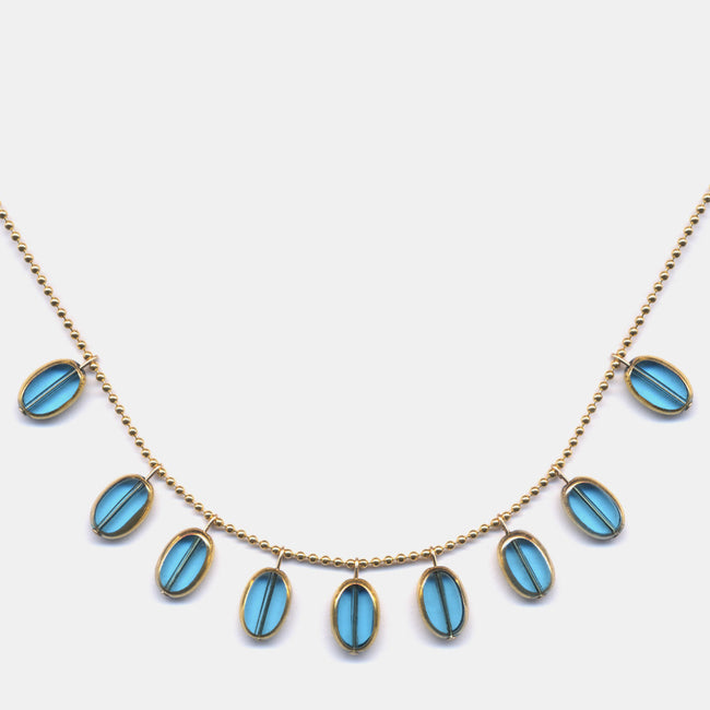 Sky Blue Ovals Necklace