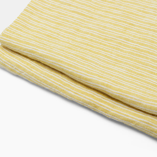 Linen Napkin, yellow stripe