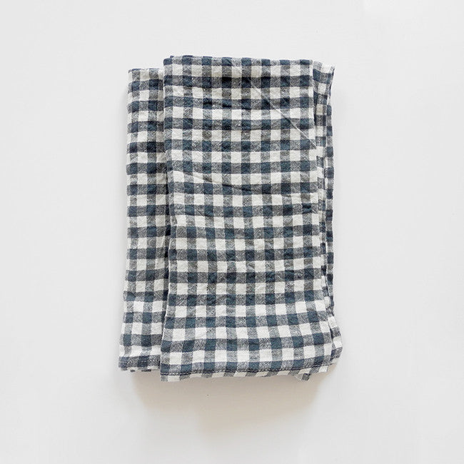 Linen Napkin, anthracite gingham, Napkin, Linge Particulier, Collyer's Mansion - Collyer's Mansion
