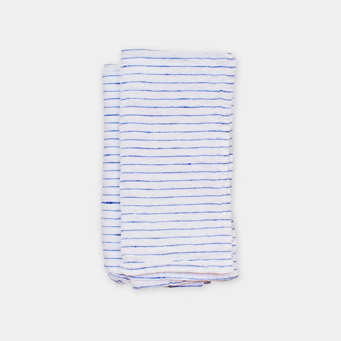 Linen Napkin, atlantic blue stripe