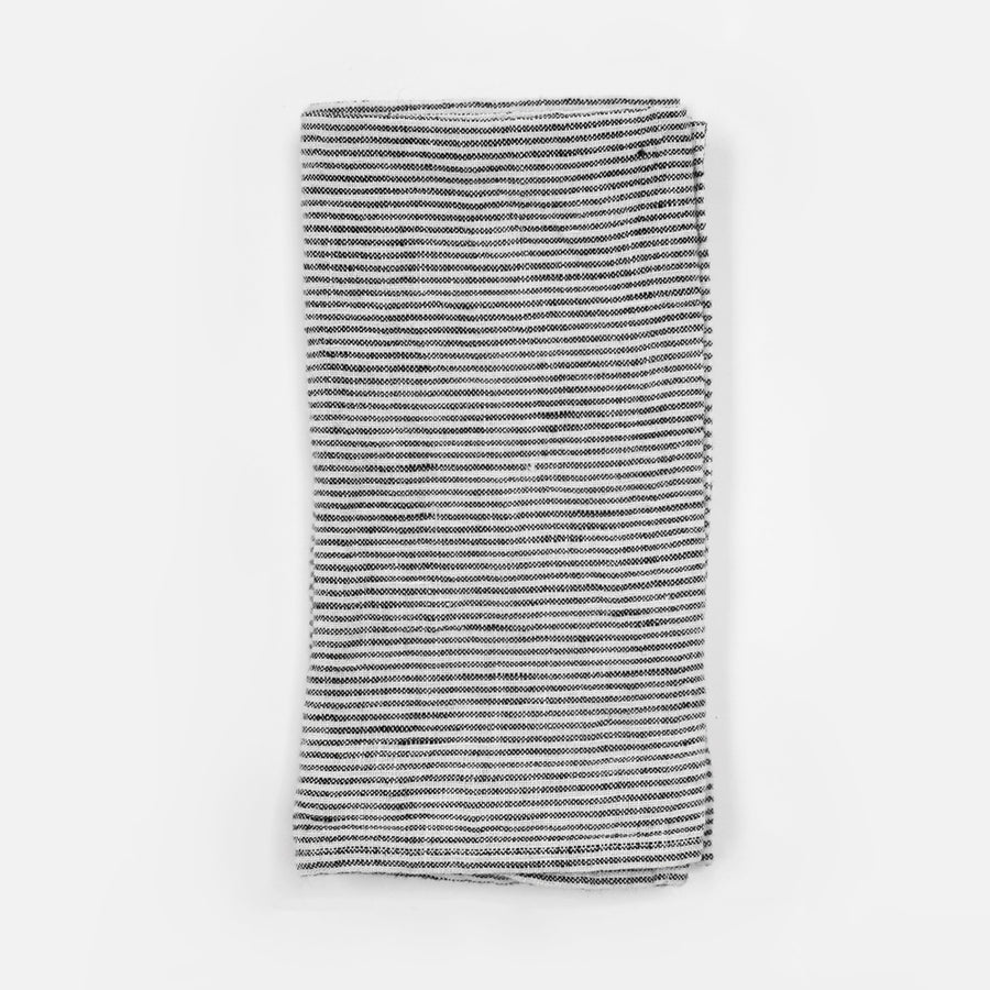 Linen Napkin, black stripe, Napkin, Linge Particulier, Collyer's Mansion - Collyer's Mansion