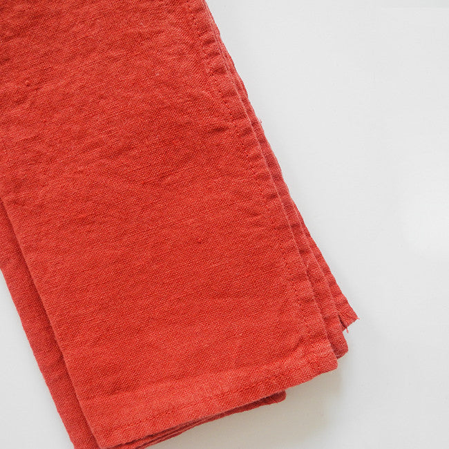 Linen Napkin, carmine red, Napkin, Linge Particulier, Collyer's Mansion - Collyer's Mansion