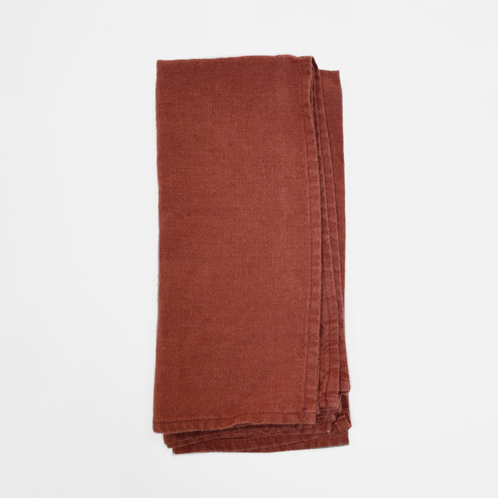 Linen Napkin, dark orange, Napkin, Linge Particulier, Collyer's Mansion - Collyer's Mansion