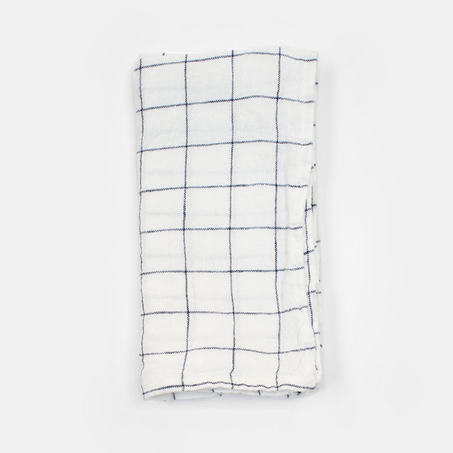 Linen Napkin, navy check, Napkin, Linge Particulier, Collyer's Mansion - Collyer's Mansion