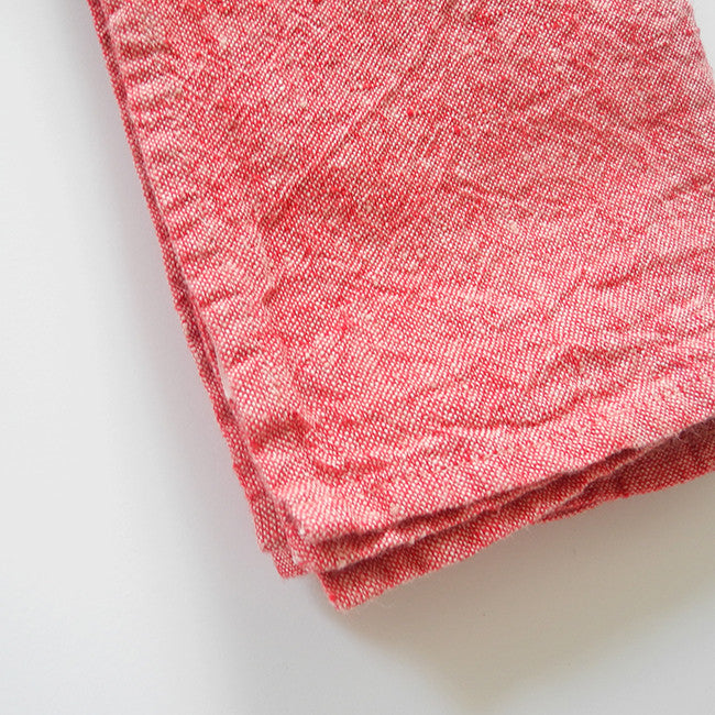 Linen Napkin, red chambray, Napkin, Linge Particulier, Collyer's Mansion - Collyer's Mansion