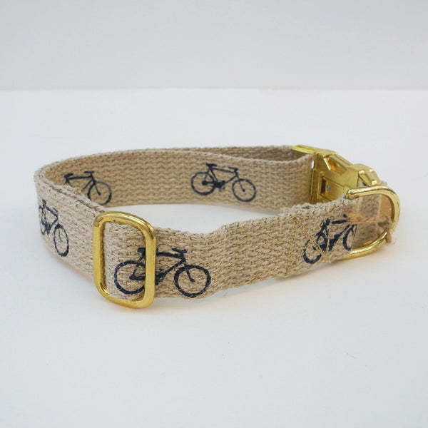 Black Bicycle Dog Collar