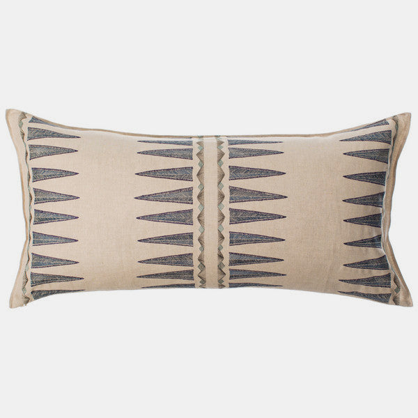 Navy Quill Pillow, lumbar