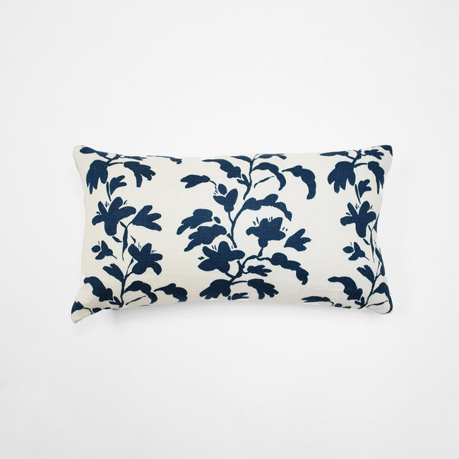 Navy Vine Pillow, lumbar
