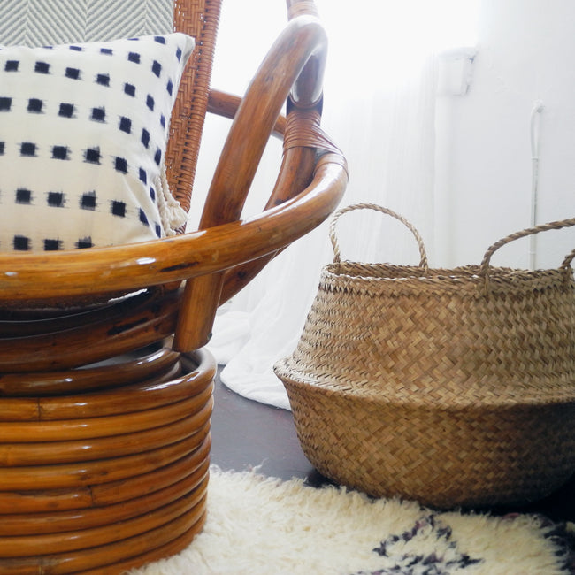 Convertible Seagrass Basket, Basket, Roost, Collyer's Mansion - Collyer's Mansion