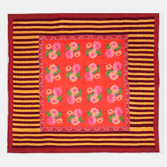 Nizam Red Quilt, queen/king