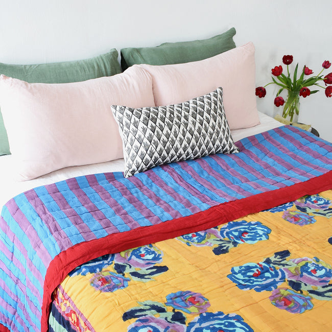 Nizam Mustard Quilt, queen/king