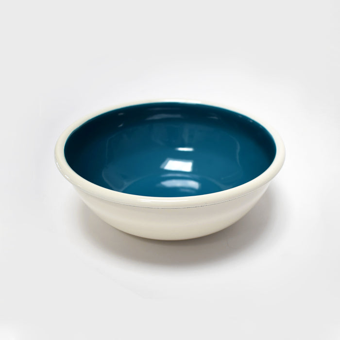 Ocean Blue Enamel Bowl