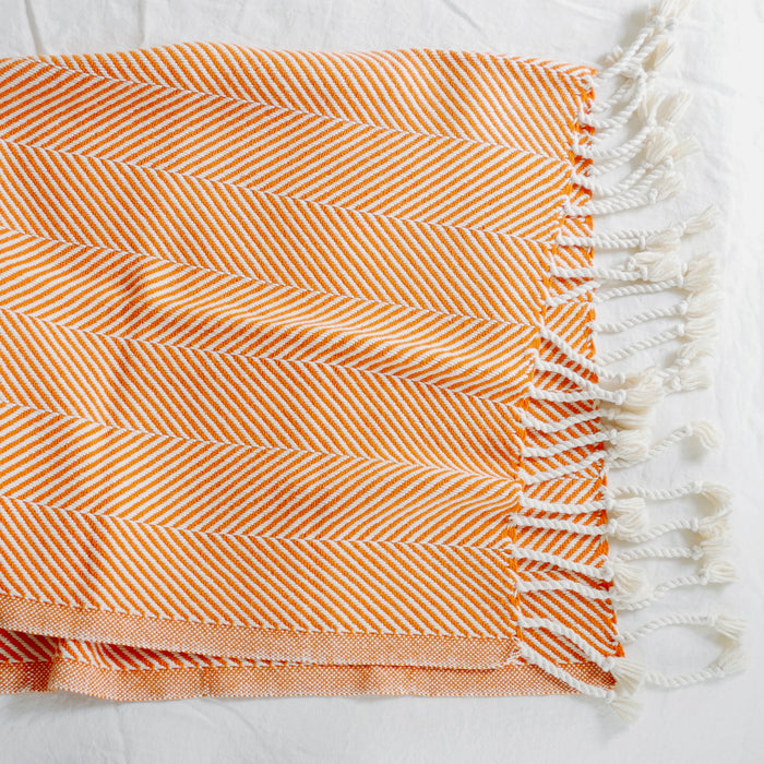 Cotton Herringbone Throw, autumn, Throw, Brahms Mount, Collyer's Mansion - Collyer's Mansion