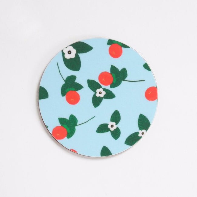 Orange Blossom Coaster Set