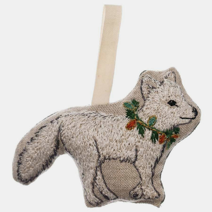 Christmas Artic Fox Ornament, Ornament, Coral & Tusk, Collyer's Mansion - Collyer's Mansion