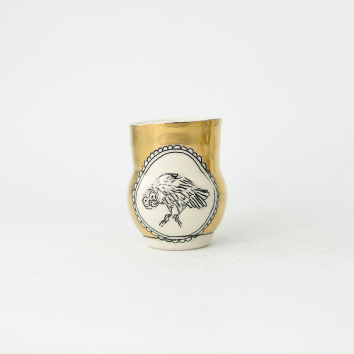 Woodland Animal Small Gold Vase