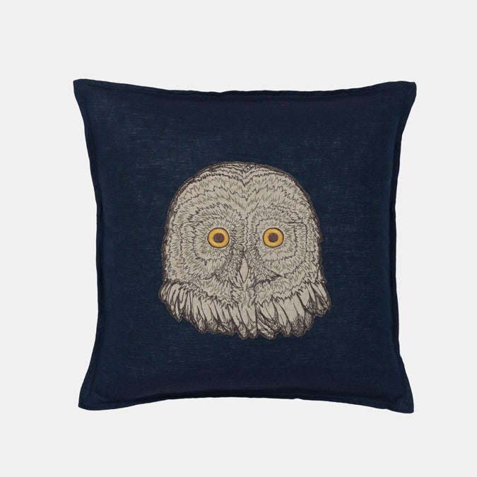 Owl Applique Pillow, square