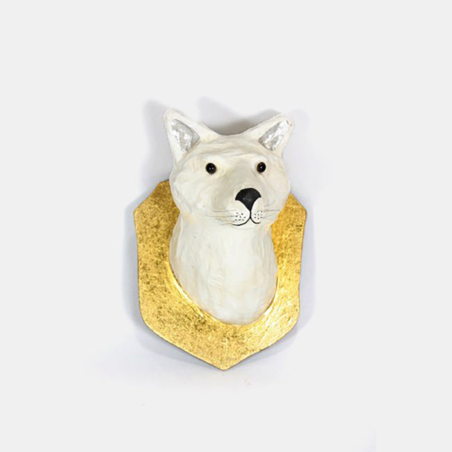 White Fox Wall Mount