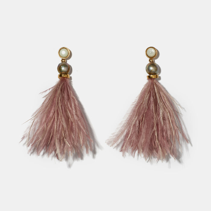 Parker Earrings in Mulberry