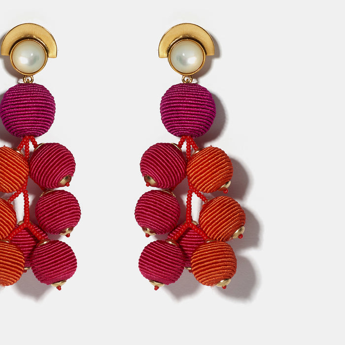 Meteor Earrings in Berry, Earrings, Lizzie Fortunato, Collyer's Mansion - Collyer's Mansion